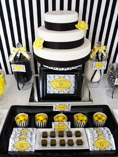 Google Image Result for http://images.polkadotbride.com/wp-content/uploads/2011/04/yellow-and-black-candy-buffet003.jpg