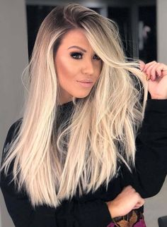 Fantastic ideas of long blonde hair colors and for women and girls in year If you existing looks of long hair but can't find still the best hair color shades then you must try the beautiful blonde hair colors to show off in Hair Color Shades, Ombre Hair Color, Blonde Color, Cool Hair Color, Blonde Hair Shades, Blond Hairstyles, Trendy Hairstyles, Hairstyles 2016, Medium Hairstyles