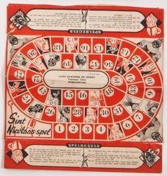 Sinterklaas Ganzenbordachtig spel, ca. 1950.
