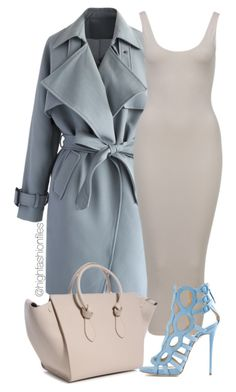 """Baby Blue"" by highfashionfiles ❤ liked on Polyvore"