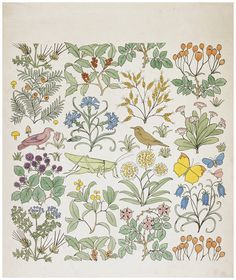 atelierentomologica: Textile design, Charles Francis Annesley Voysey, 1926