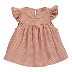 Mimi Flowered Top Dusty Pink  Buho