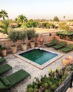 "El Fenn Hotel Marrakech (@elfennmarrakech) on Instagram: ""We like to mix a little pool in with the vegetation."""