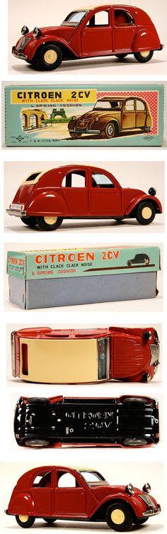 Citroen 2CV toy. Details toydb