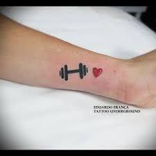 Resultado de imagem para tatuagem de halteres
