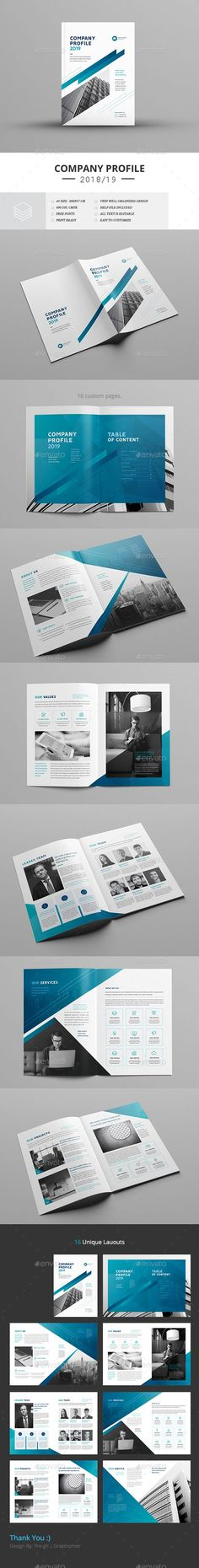 Company Profile Company Profile Template, Company Profile Design, Flyer And Poster Design, Poster Design Inspiration, Corporate Profile, Corporate Brochure, Graphic Design Templates, Print Templates, Creative Brochure