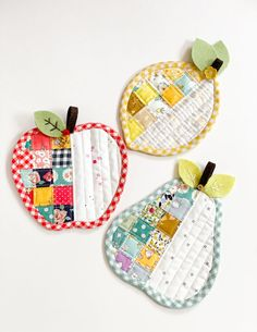 Apple Pear Lemon Coasters