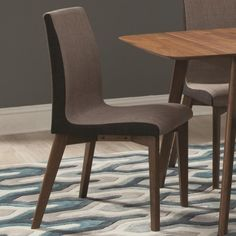 Coaster Redbridge Dining Side Chair with Curved Back - Coaster Fine Furniture