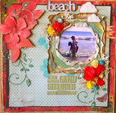 KaiserCraft Tropicana - Beach-layout-Adriana Bolzon