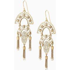 White Beaded Tassel Earrings   Stella & Dot   Stella & Dot (420 ZAR) ❤ liked on Polyvore featuring jewelry, earrings, stella dot jewelry, beaded earrings, white earrings, beads jewellery and beading jewelry