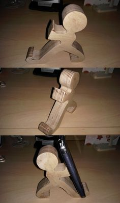 Mobile Phone holder Wood -1