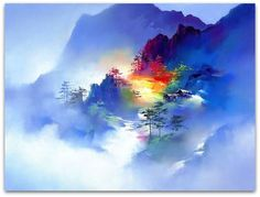 H. Leung watercolor mountains