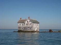 Holland Island, langzaam verdwijnend eilandje in de Chesapeake Bay in de VS