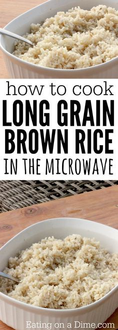 How to cook brown rice in the microwave | Recipe | Brown rice ...