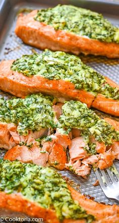 Spinach Stuffed Salmon Spinach Stuffed Salmon,COOKTORIA'S VIDEO RECIPES Tender and flaky salmon combined with creamy and smooth spinach stuffing… Oh yes, this Spinach Stuffed Salmon has it all. It is a great meal that's. Healthy Dinner Recipes, Low Carb Recipes, Vegetarian Recipes, Cooking Recipes, All Recipes, Garbanzo Bean Recipes, Best Seafood Recipes, Shrimp Recipes For Dinner, Greek Recipes