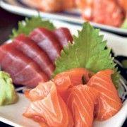 Maguro and Salmon Sashimi Combo at Hinone Mizunone