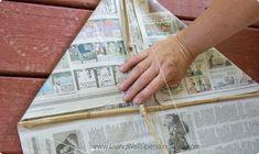How to Make a Homemade Kite | DIY Newspaper Kite Tutorial