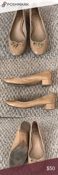 Tory Burch Chelsea Patent Leather Low Heel Pumps