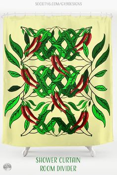 * Hot Chili Peppers Shower Curtain by #Gravityx9 at Society6 * This design is available on Tee Shirts, carry-all tote bags, drink coasters, serving trays, pillows, home decor and more. * chili pepper bathroom * home decor shower ideas * bathroom curtain decor ideas * shower curtain ideas * bathroom decor for guest room * room divider ideas * curtain room divider ideas * #showercurtain #bathroomdecor #bathroomcurtain #roomdivider #curtain #homedecor #chilipeppers #peppers #chili 0621 Curtain Room, Divider Ideas, Hottest Chili Pepper, Curtain Ideas, Food Themes, Serving Trays, Bathroom Shower Curtains, Drink Coasters, Food Art