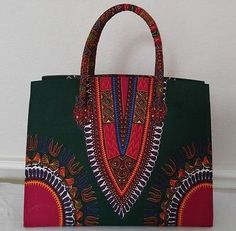 Dashiki handbag African Dashiki Handbag African Dashiki by Oludan Ankara Bags, African Dashiki, Cosmetic Items, Suede Fabric, Large Handbags, Printed Bags, Leather Bag, Purses, Wax
