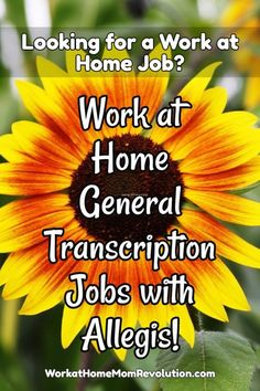 Allegis Transcription is hiring experienced work at home general transcriptionists in the U.S. Independent contractor positions. Competitive rates. Awesome work from home transcription opportunity! If you're seeking a home-based position, this might be perfect for you! You can make money from home!