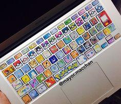 Pokemon inspired keyboard stickers for MacBooks by MacchanHandmade