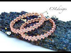 Braided wirework hoop earrings - YouTube