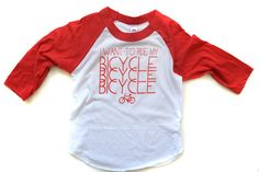 I Want to Ride My Bicycle! raglan – mamacase prints