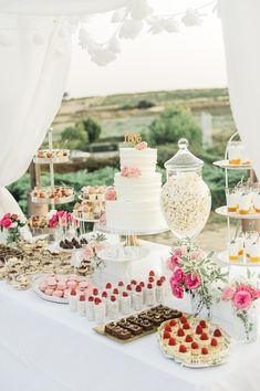 beautiful dream wedding dessert table