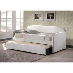 Have to have it. Springfield Upholstered Daybed - White - $479 @hayneedle - great idea for AML 2nd bedrm