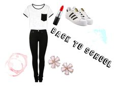 Back to school, with cool. by emma-loves-fashion294 on Polyvore featuring MM6 Maison Margiela, adidas Originals and MAC Cosmetics