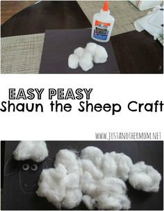 Do you have a Shaun the Sheep fan in your house? Try this easy Shaun the Sheep craft with them today.