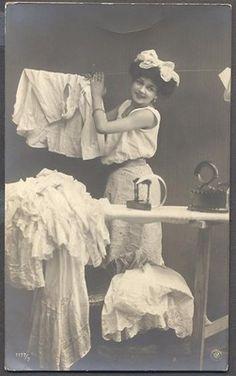 Vintage laundry postcard