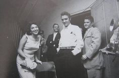 """Jacksonville, Florida. August, 10 1956 - with constest """"Win a Date with Elvis"""" winner, Andrea Stephens"""