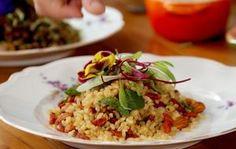 Arroz integral com amêndoas e arroz vermelho com lentilha - Comida.Org - GNT