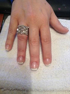 French pearl mani Nails by Missy