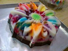 Coconut 'n Jelly Flower Rainbow