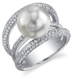 applesofgold.com - South Sea Pearl & Diamond Eternity Ring Retail Value: 5399.00  Price: $3,599.00