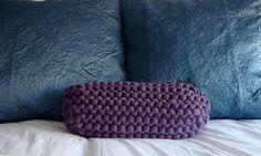 Super Chunky Knit Bolster Pillow  Lavender by danasjoy on Etsy, $75.00