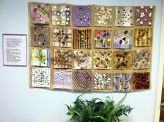 Group project - Friendship quilt emphasizing texture & natural materials