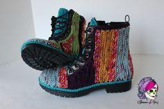 Faux Crochet Outdoor Boots tutorial