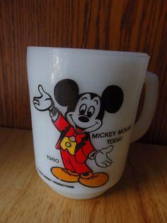 Disney Mickey Mouse Oven Proof Anchor Pepsi 1980 Coffee Mug Rare Mint
