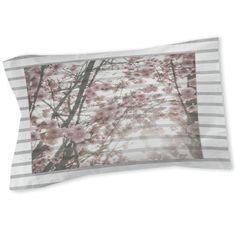 Cherry Blossom Stripes Sham