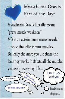 June is Myasthenia Gravis Awareness Month.