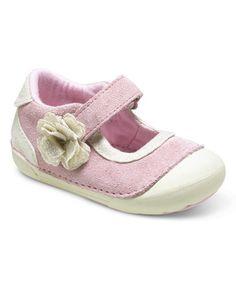 Loving this Pink & Champagne SRT SM Margot Leather Sneaker on #zulily! #zulilyfinds