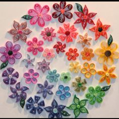 Quilling - these are all made out of paper! So awesome looking!