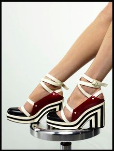 Chanel 2013. I think I love these!! My favorite colors together AND stripes??!!!