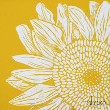 Image result for sunflower lino print