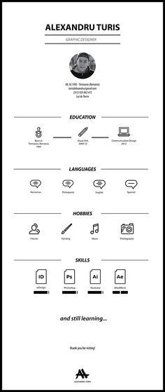 Curriculum Vitae on Behance---정확히 필요한 내용만 아주 보기좋고 간단하게 나열되어있는 방식의 이력서. 디자인도 좋고 보기도 좋아 마음에듬. 아주 똑똑한 방식으로 자신의 능력을 나타낸것같음