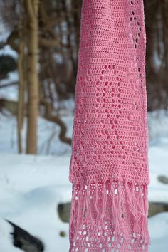 Ravelry: Project Gallery for Breast Cancer Crochet Scarf pattern by Jessica Woofter